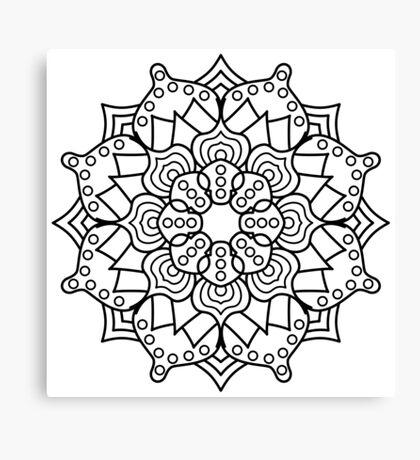 Hypno-Mandala Canvas Print