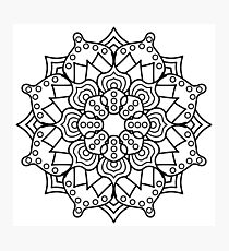 Hypno-Mandala Photographic Print