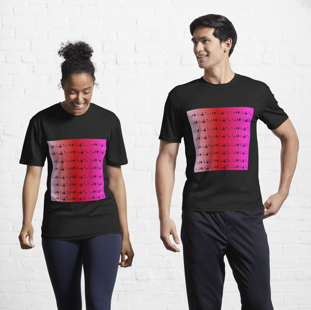 Print design with peach red purple and pink. Decode Active T-Shirt