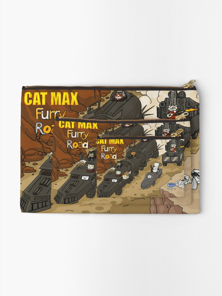 Alternative Ansicht von Katzen Max: Pelzige Straße Täschchen