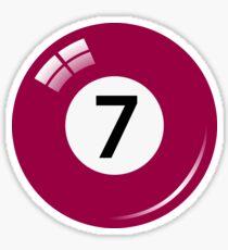 Pool/billiard ball number seven sticker Sticker