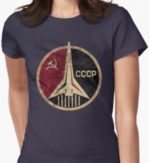CCCP Rocket Emblem  Women's Fitted T-Shirt