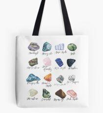 Watercolor gemstones geology print Tote Bag