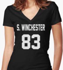 Supernatural Jersey (Sam Winchester) Women's Fitted V-Neck T-Shirt
