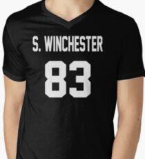 Supernatural Jersey (Sam Winchester) Men's V-Neck T-Shirt