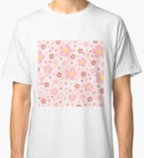 Pinky Flowers Effect Classic T-Shirt