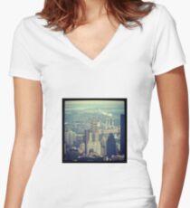 Chrysler Building Women's Fitted V-Neck T-Shirt