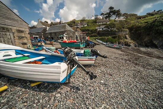 Cadgwith Fishing Boats  by Rob Hawkins