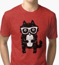Coffee Cat Tri-blend T-Shirt