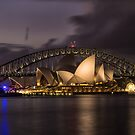 Sydney Opera at the Bridge by yolanda