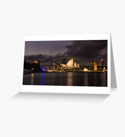 Sydney Opera at the Bridge Greeting Card