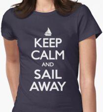 Keep Calm and Sail Away Sailing Yacht T Shirt T-Shirt