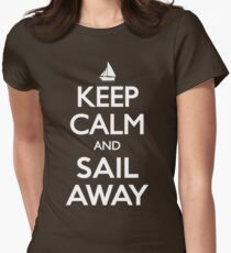 Keep Calm and Sail Away Sailing Yacht T Shirt T-Shirt