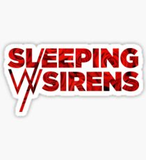 Sleeping With Sirens Logo Roses Sticker