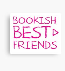 BOOKISH BEST FRIENDS pink matching with arrow right Canvas Print