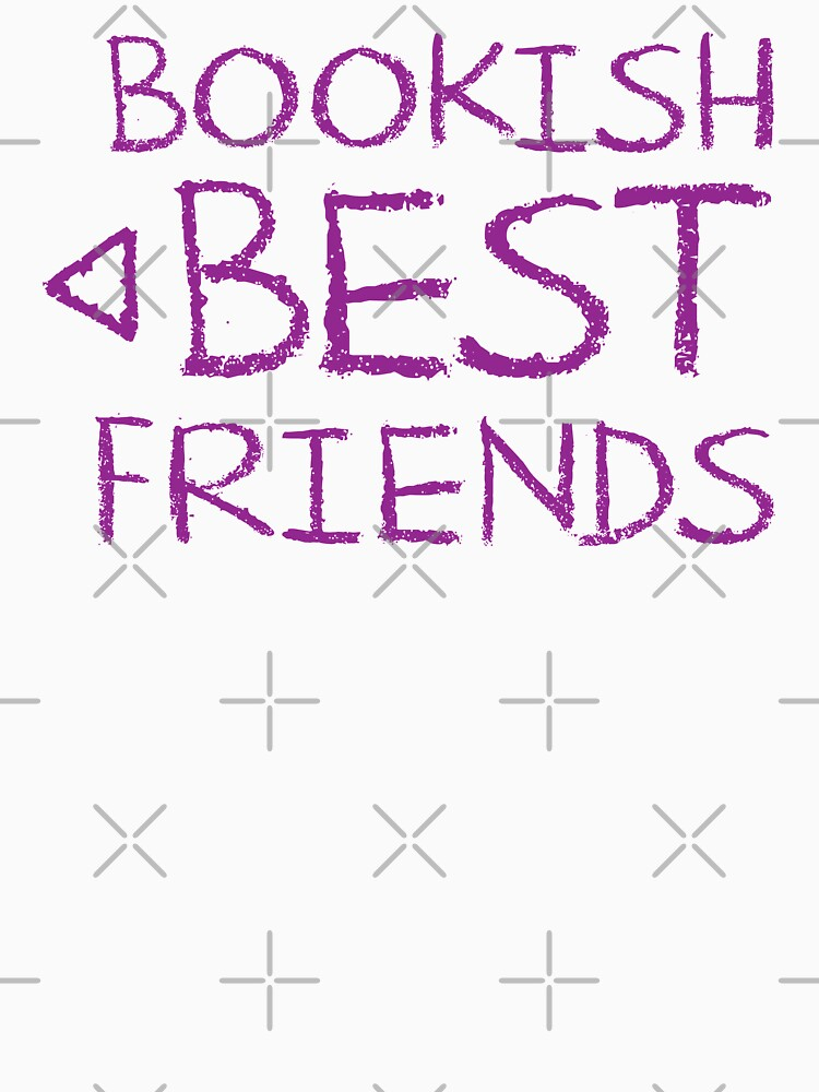 BOOKISH BEST FRIENDS purple matching with arrow left by jazzydevil