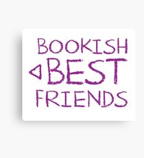 BOOKISH BEST FRIENDS purple matching with arrow left Canvas Print