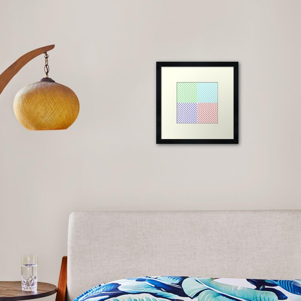 rombus Framed Art Print