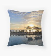 Cala Nova Sunrise, Ibiza Throw Pillow