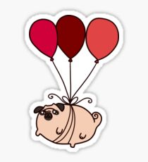 Balloon Pug Sticker