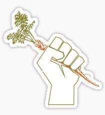 Veggie Permaculture Fist of Solidarity  Sticker