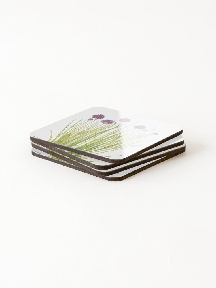 Alternate view of Botanical watercolour  Coasters (Set of 4)