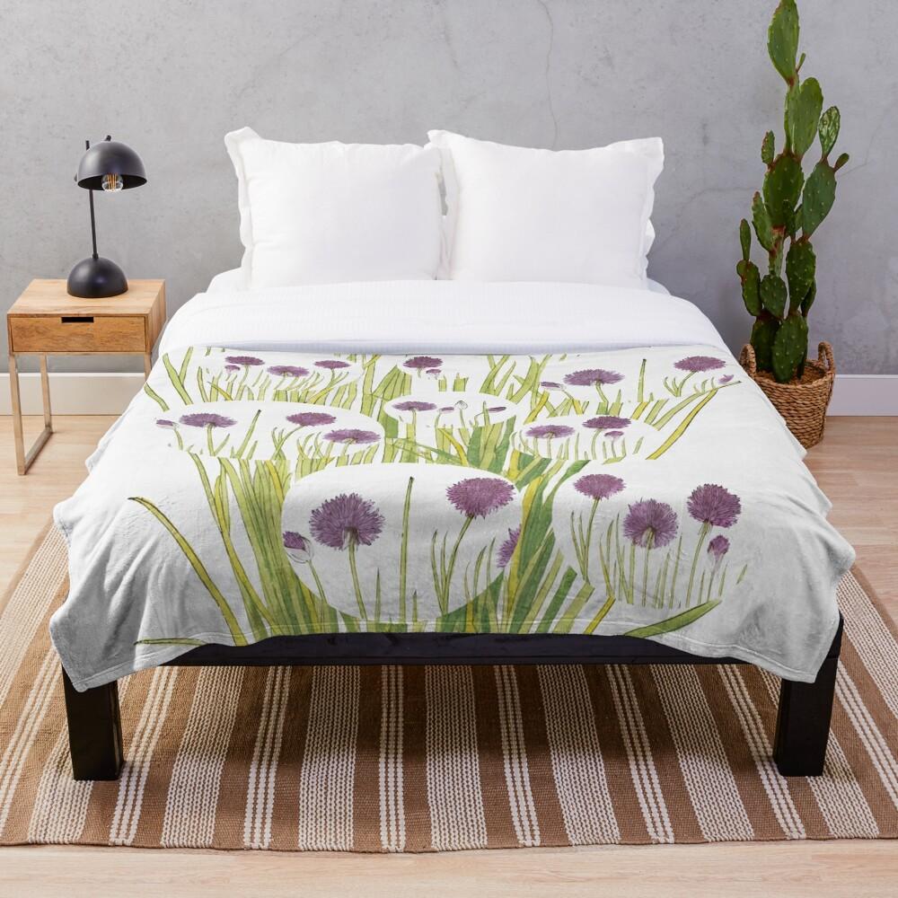 Botanical watercolour  Throw Blanket