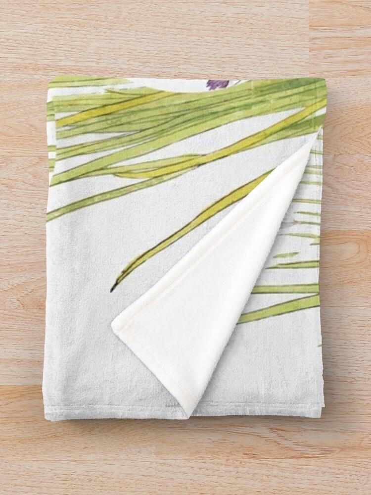 Alternate view of Botanical watercolour  Throw Blanket
