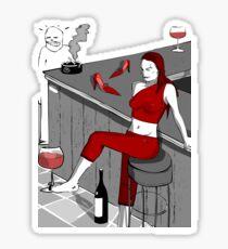 drunker@bar Sticker