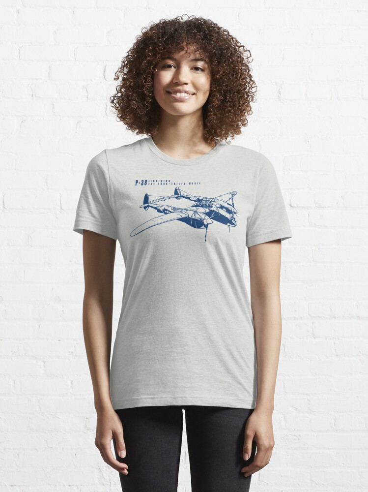 Alternate view of P-38 Lightning Essential T-Shirt