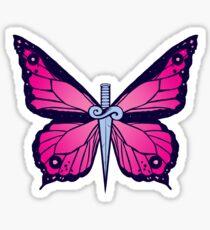 Ocean Butterflies Part 2 - Pale Pink Sticker