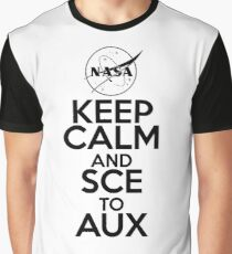 Keep Calm and SCE to AUX Graphic T-Shirt