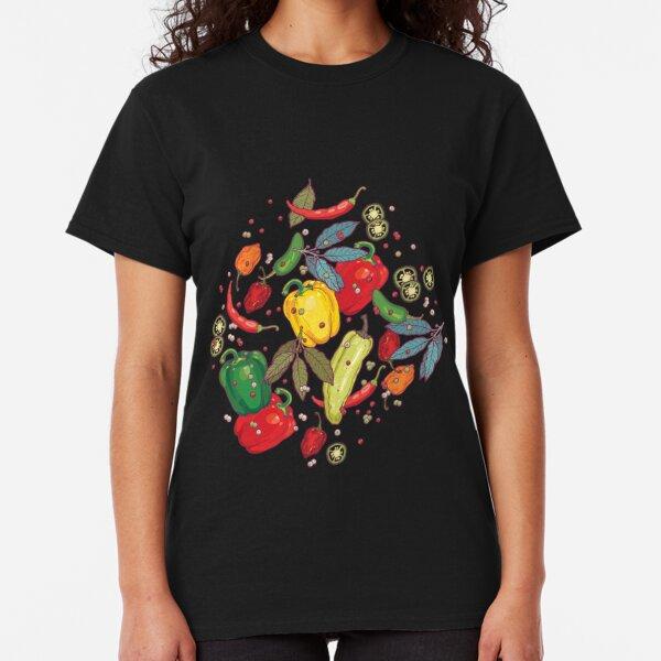 Jalapeno Pepper Wheel Black Adult T-Shirt Cinco de Mayo