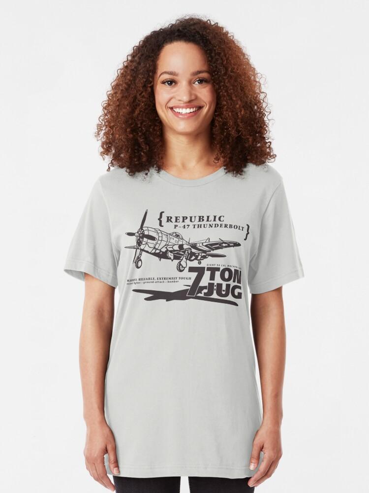 Alternate view of P-47 Thunderbolt Slim Fit T-Shirt
