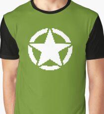 8 Bit Army Star Graphic T-Shirt