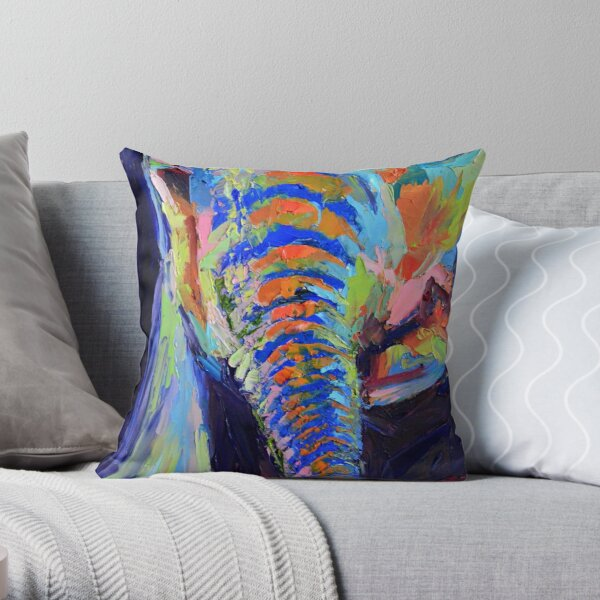 Babe - Baby Elephant Throw Pillow