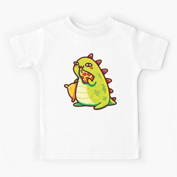 Cute T-Rex Eating Pizza Kids T-Shirt