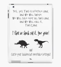 curse your sudden but inevitable betrayal, firefly, grey iPad Case/Skin