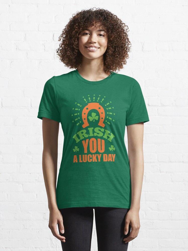 Alternate view of St. Patrick's Day: Irish you a lucky day Essential T-Shirt