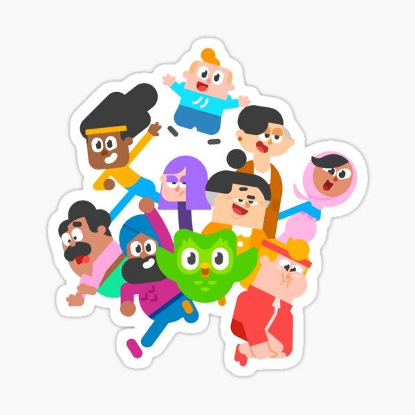 Funny Duolingo Characters Sticker