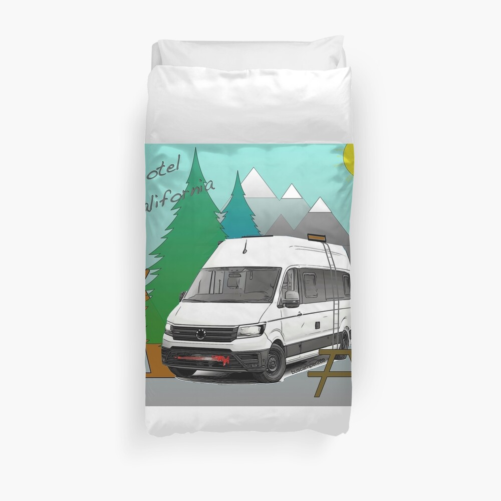 Hotel California Campervan Duvet Cover
