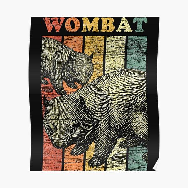 Retro Wombat Poster