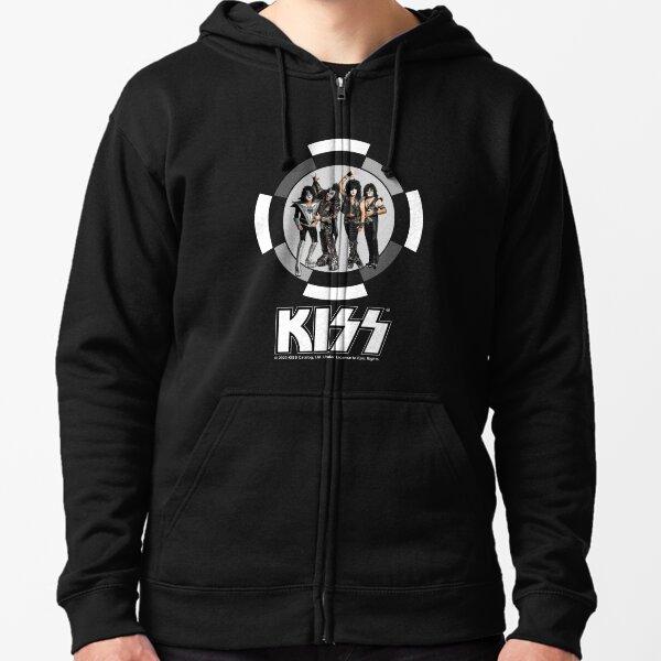 All Members Of Kiss Band - Black and White Classic Zipped Hoodie