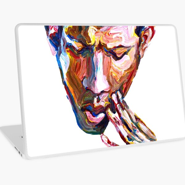 Doubt - Male figurative Laptop Skin