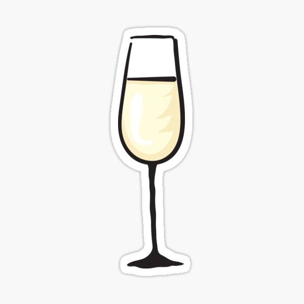 Glass of Champagne sticker Sticker