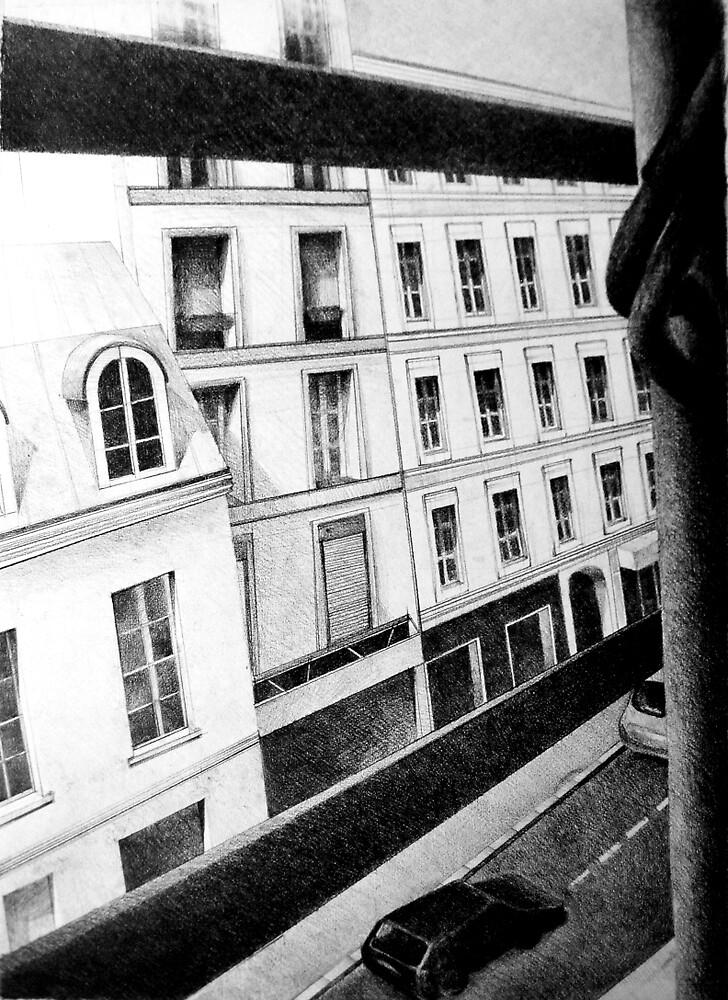 Paris Street View, 2011, 50-70cm, graphite crayon by oanaunciuleanu