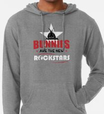 Bunnies are the new rockstars Leichter Hoodie