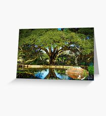 OAK AND POND Greeting Card