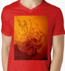Golden flowers Men's V-Neck T-Shirt