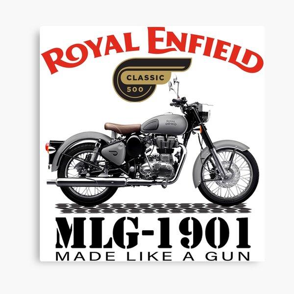 Royal Enfield Classic 500 Gunmetal Grey Canvas Print